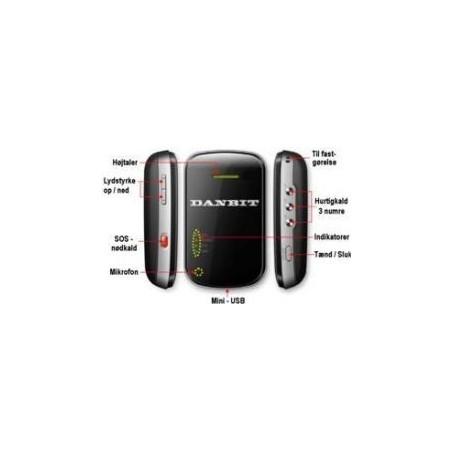 Rest salg: GPS Tracker u. simkort, 650MAH