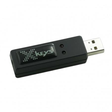Programmerbar USB-kontakt-adapter med 1 - 3 indgange til trykknapper. Udfører HID kommando. Tilkøb kontakter