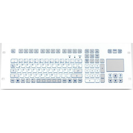 PS/2 Industri tastatur IP65 med touchpad. Nordisk layout