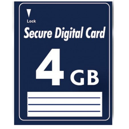 4 GB SD Secure Digital Memory card