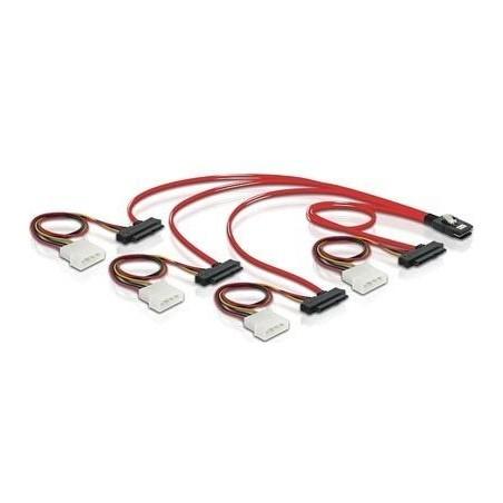 SAS kabel, SFF8087 til 4x SFF8482 0,5m