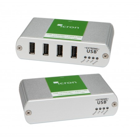 4 ports USB 2.0 Extender via Ethernet (LAN)