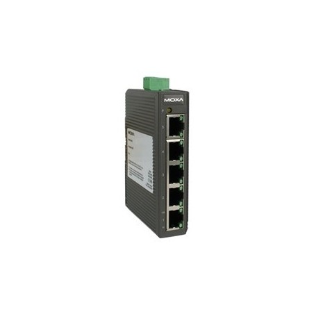 5 ports MOXA switch 10/100 RJ45, DIN - Unmanaged, 12-48VDC, 18-30VAC