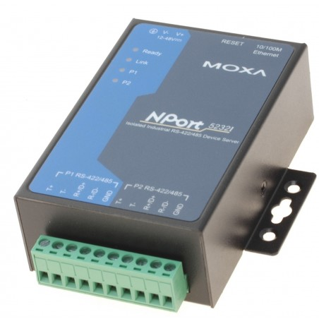MOXA NP5232I 2 X RS422 / 485 optoisoleret serielportserver