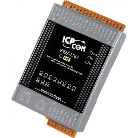 11 kanals relæ modul til Ethernet/ MODBUS med PoE
