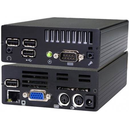 Mini IPC med ATOM Dual Core, 2GB RAM, 2 x RS232