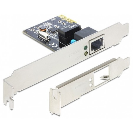 Netværkskort 10/100/1000 Mbit PCI-Express Gigabit m low profile bøjle. Netværksadapter PCIe x 1 Gigabit LAN 1 x LP.