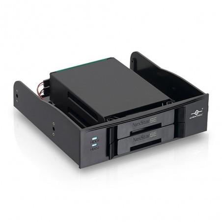 """Intern 5¼ """" skuffe til 2 x 2½"""" SATA SSD/HDD"""