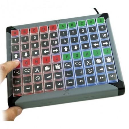 USB tastatur med 80 programmerbare taster og indbygget LED lys