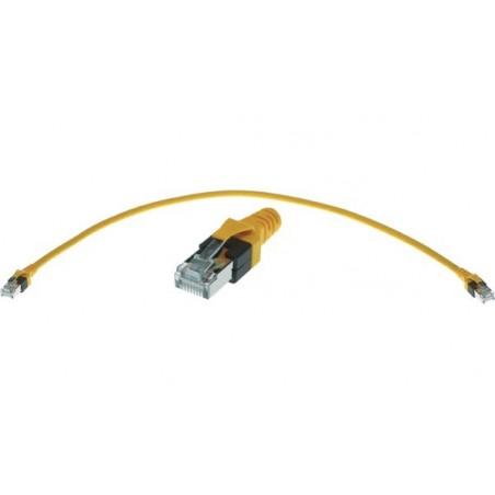 RJ45 kat.6 Ethernet kabel PUR- Halogenfrit, krydset, gul, 10 meter
