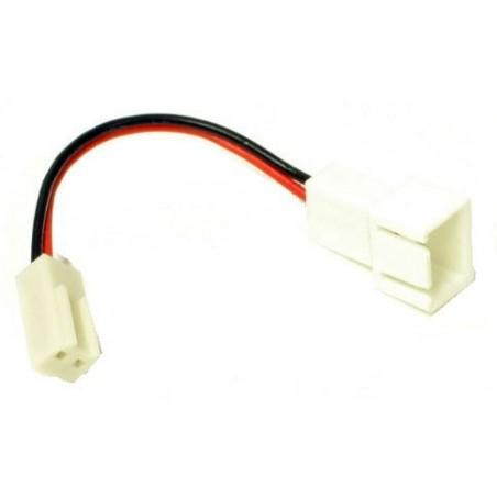 3 pin til 2 pin C vifte adapter kabel, 5 cm