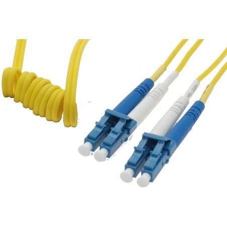 Singlemode LC Easy Bend fiberkabel. Easy Bend, 9 µm, duplex, OS1, LSZH, LC, 2 meter