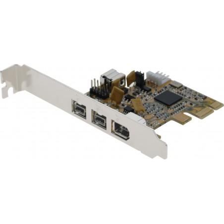 PCIE kort med 4 FireWire porte med 3 FireWire 800 og 1 FireWire 400