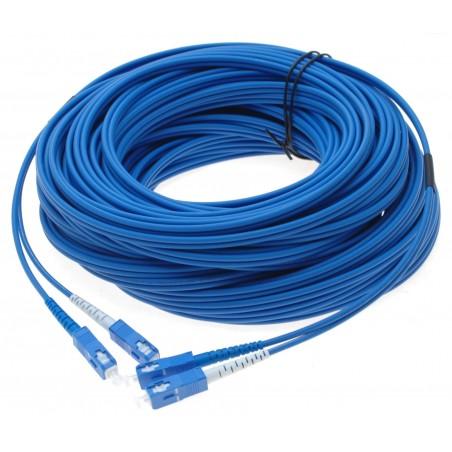 Fiberoptisk kabel med fleksibel armering af rustfrit stål - singlemode SC, 375 meter