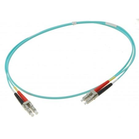 Fiber optisk kabel- multimode LC-LC, 50-125µm, duplex, OM3, 0,5 meter