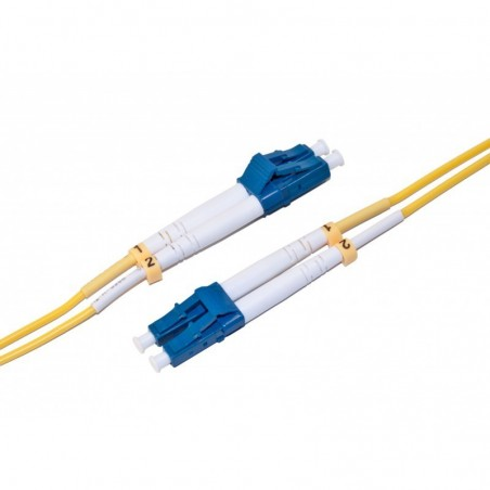 Hvidt fiberkabel singlemode 9/125my, duplex, 4xLC fiber, 20m