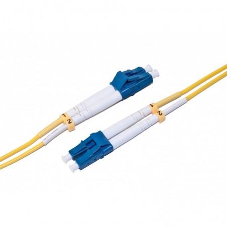 Hvidt fiberkabel singlemode 9/125my, duplex, 4xLC fiber, 50m
