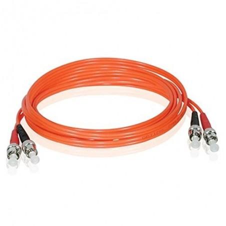 Multimode ST fiber patchkabel, 62,5-125 μm, 2,0m