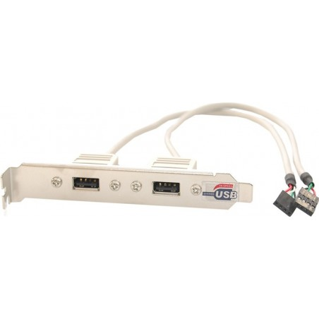 Ryggplate med to USB2-kontakter