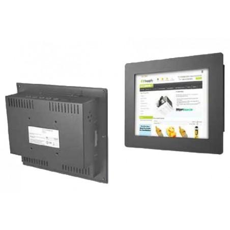 "12"" IP65tæt monitor, transflektiv, sort"