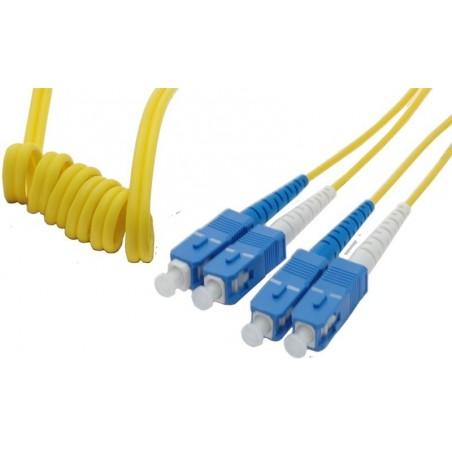 Singlemode SC Easy Bend fiberkabler 9 µm, duplex, OS1, LSZH, SC, 0,5 m