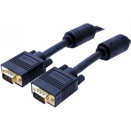 VGA monitorkabler i mange længder og farver.