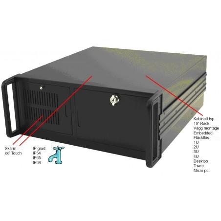 Industri PC DOS, NT, WIN 3.22, WIN XP kundespecificeret med og uden ISA, PCI, PCI-x osv.