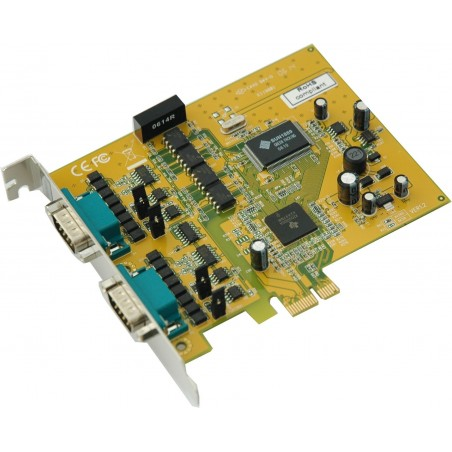 Restlager: 2 x RS422/485 PCI Express, Optoisoleret
