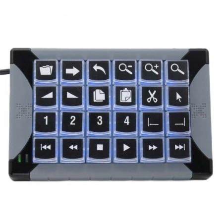 Tastatur med 24 x programmerbare taster til KVM styring, USB