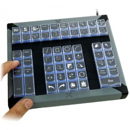 60 key programmerbar tastatur til KVM styring, USB, baggrundslys