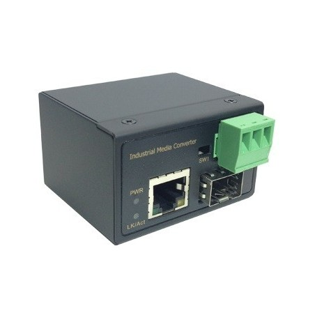 Mediekonverter RJ45 10/100Mbit til Fiber 100Mbit SFP modul