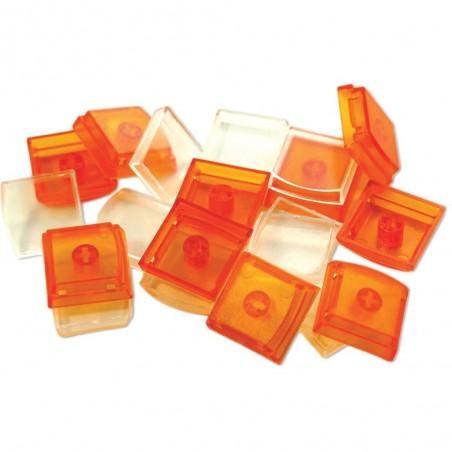 Løse X-Keys taster, keycaps, sæt med 10 stk. orange