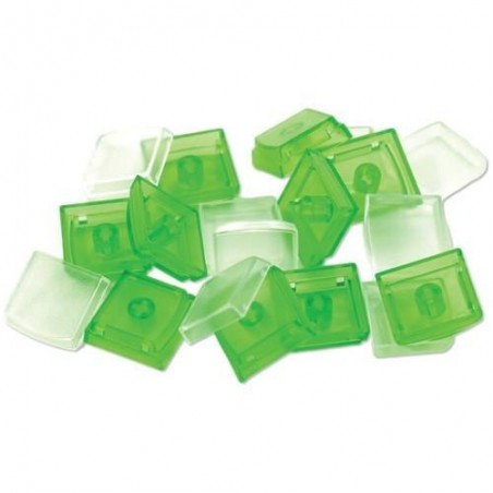 Løse X-Keys taster, keycaps, sæt med 10 stk. grøn