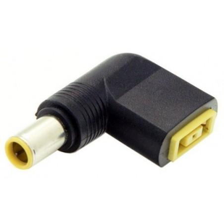 Konverter DC 7.9 x 5.4mm DC stik til rektangel hun charger power adapter, vinklet 90°