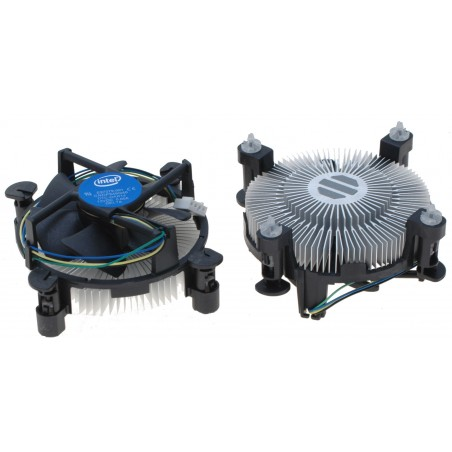 CPU køler, Intel E97379-001 Core i3/i5/i7 Socket 1150/1155/1156. 4-Pin Connector CPU Cooler med Aluminum Heatsink