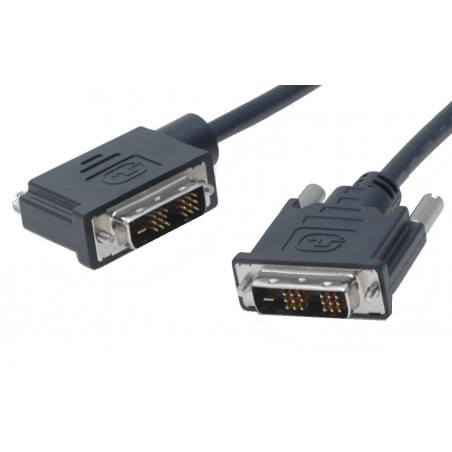 DVI-D Single Link DVI kabel han/ han med vinkel (venstre) sort, 30 cm