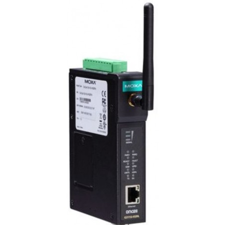 1-ports industriel GSM/GPRS/EDGE/UMTS/HSPA IP gateway, RS-232/422/485, -30-70°C, MOXA OnCell G3150A-HSPA-T