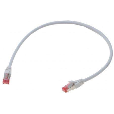 Brandhæmmende netværks datakabel RJ45, Cat. 6A/7,SSTP, Blyfri LSFRZH (Low Smoke Fire Retardant Zero Halogen) kappe, Hvid, 0,5M