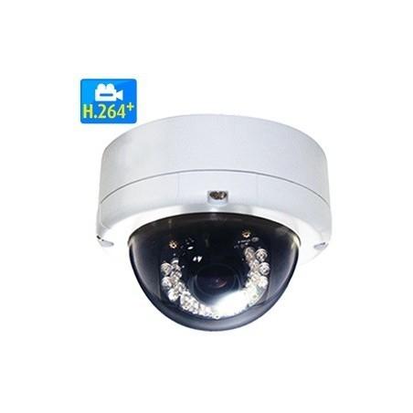 5MP IR H.264+/H.265 vandalsikkert udendørs IP PoE domekamera