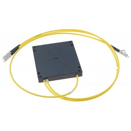 Fiberkabel 1 x LC- 2 x LC med PLC splitterboks, LSZH, multimode, 62.5/125µm, 3.0mm, gul, 1,0 meter