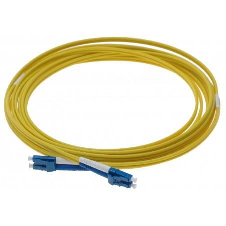 Singlemode LC fiber patchkabel, 9-125 μm, 125 meter