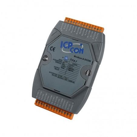 RS485 til MODBUS/ RTU/ DCON 250VAC/ 30DC 12 kanals relæ, grå
