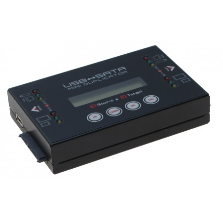 Kopimaskine USB til SATA HDD Mini Duplikator, Ultra high speed op til 18GB/min, 1:1, Stand alone