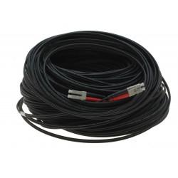 Fiberoptisk kabel med fleksibel armering af rustfrit stål - multimode LC, 120 meter