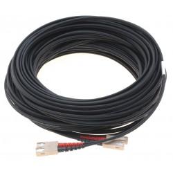 Fiberoptisk kabel med fleksibel armering af rustfrit stål - multimode SC, 25 meter