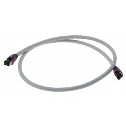 Cat. 8 netværkskabel, RJ45, S/FTP - PiMF, LSZH, 25/40G Base-T, 2000 MHz, grå, 1,0m