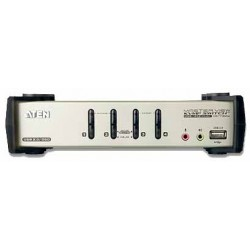 4-port USB KVM PC-bryter...