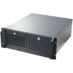"""4U 19"""" PC-kabinet, ATX, sort"""