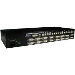 16 ports KVM omskifter,...