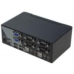 2 ports KVM omskifter, 2 x...